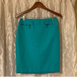 Calvin Klein NWT pencil skirt zipper blue